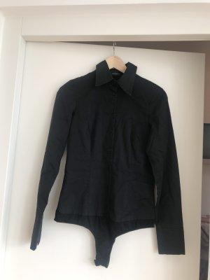 Hallhuber Blusa tipo body negro
