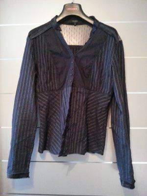 Bluse von Hallhuber, dunkel blau, Größe 36