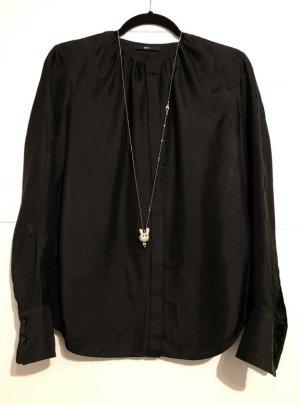 Bluse von Hugo Boss aus Seide in schwarz Größe 38 Seidenbluse