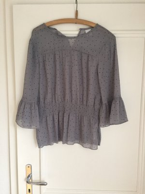 Ichi Blusa brillante color plata-gris