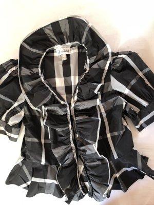 Joseph Ribkoff Ruffled Blouse black-white