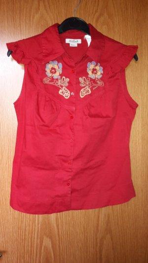 Bluse von Killah in rot Country Look in S 36 von Miss Sixty mit Flügelärmel