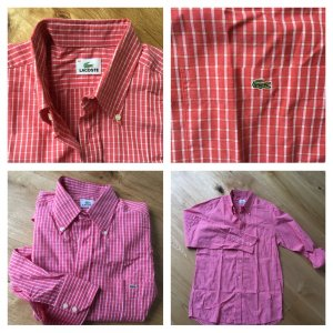 Lacoste Checked Blouse red-white cotton