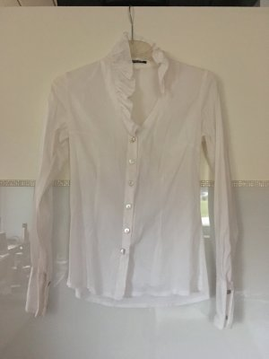Blouse à volants blanc