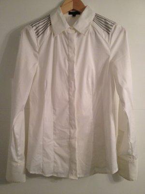 Bluse von Malvin in weiß mit Nieten