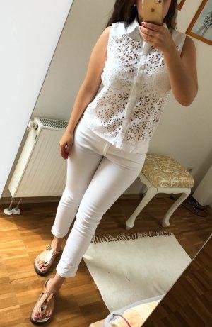 Bluse von Mandarin 34 weiß