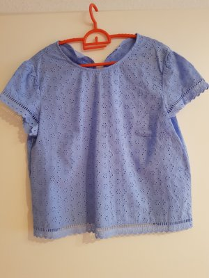 bluse von mango in babyblau