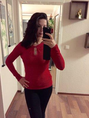 Bluse von Mango, rot sexy