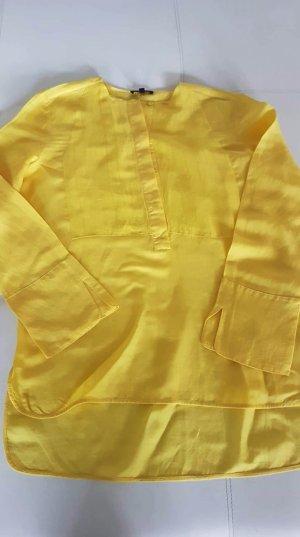 Massimo Dutti Blouse en lin jaune lin