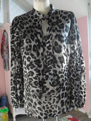 Michael Kors Blouse met lange mouwen zwart-wit Polyester
