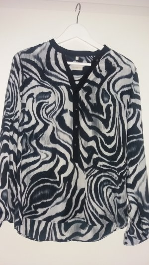 Bluse von Milano schwarz/grau/weiß