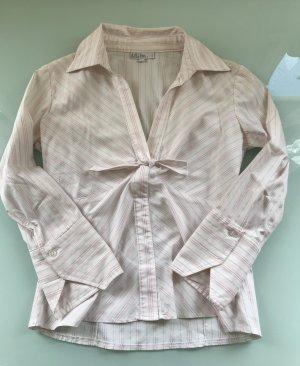 Bluse von Mim weiß mit pinken Streifen Gr. T2 (38)
