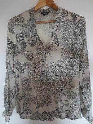 Bluse von More&More, Gr. 36, Paisley Muster beige/blau, 2x getr.