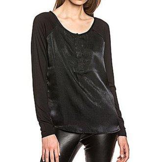 Bluse von Object glänzend schwarz Gr. M - Neu !! OP 39,99