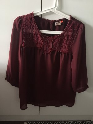 Only Blusa in merletto bordeaux