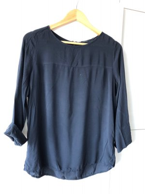 Opus Blusa collo a cravatta blu scuro