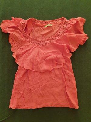 Orsay Camicetta con arricciature rosa Tessuto misto