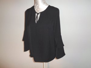 Pieces Glanzende blouse zwart Synthetische vezel
