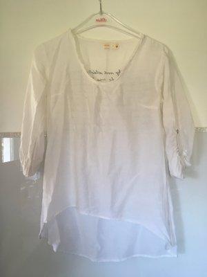 Bluse von Poolgirl in weiß mit Schriftzug Größe XS