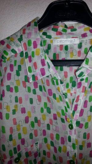 Bluse von Promod - schöne Farben - Baumwolle Gr. 38