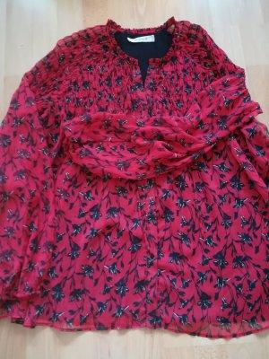 Bluse von Promod. Schwarz/Rot. Gr.40