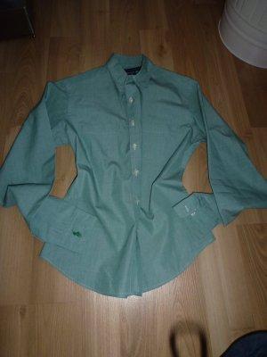 Bluse von Ralph Lauren in Gr. 6 grün langarm Damen Hemd Baumwolle