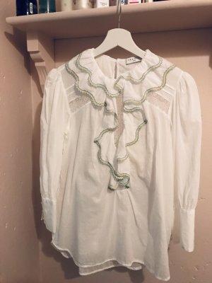 Sandro Ruche blouse veelkleurig