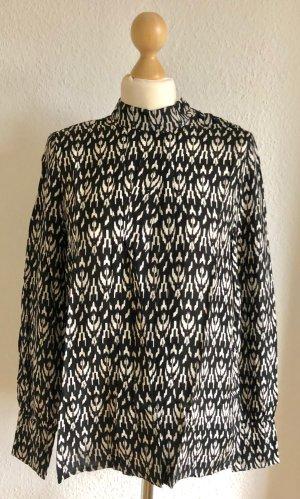 SET Urban Deluxe Blusa de cuello alto negro-blanco Viscosa