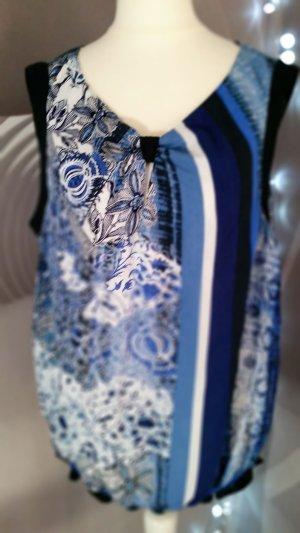 Bluse von Taifun Gr 42 neuwertig Blautöne