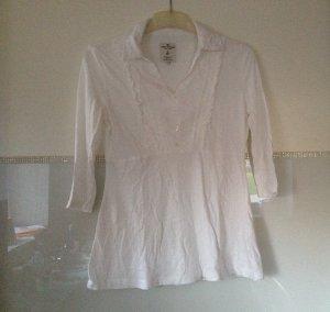 Bluse von Tom Tailor aus Baumwolle in weiß Größe XS