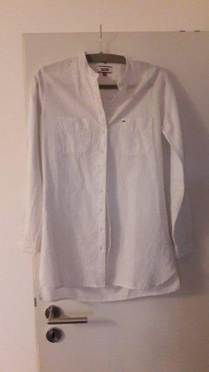 Bluse von Tommy Hilfiger aus Leinen in weiß  Gr.