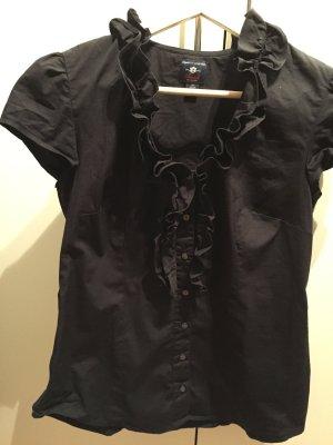 Tommy Hilfiger Ruche blouse zwart Katoen