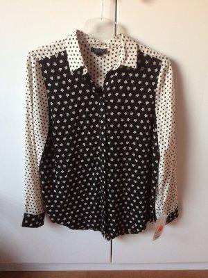 Topshop Blusa-camisa negro-beige claro