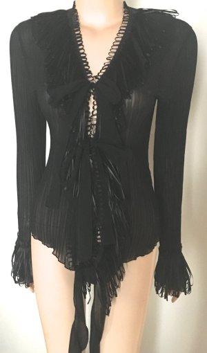 Tuzzi Blouse transparente noir