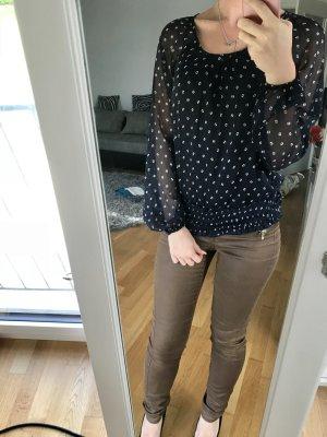 Bluse von Vero Moda in dunkelblau in Größe s