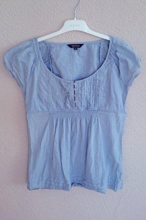 Bluse von Vestino taubenblau