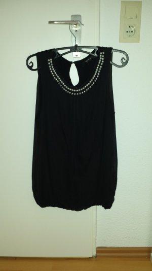 Bluse von vila mit perlen am Kragen schwarz