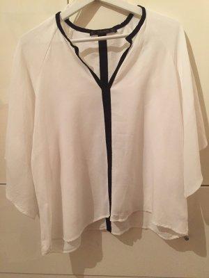 Zara Blusa tipo kimono negro-blanco