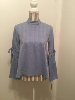 Bluse von Zara Basic Z1975 Denim Gr. XS