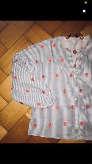 Bluse von zara, blau weis rot