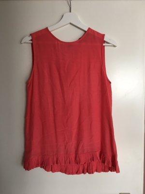 Bluse von Zara, coral/pink, Gr. 36