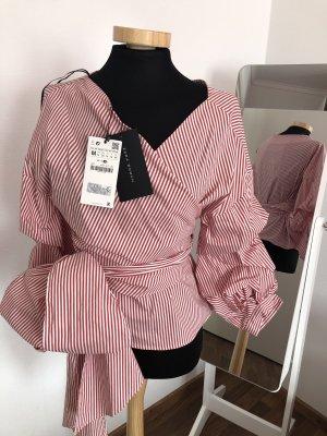 Bluse von Zara gr.M/38, neu rot/ weiß gestreift