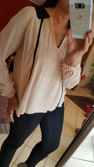 Zara Blouse à enfiler noir-rose chair