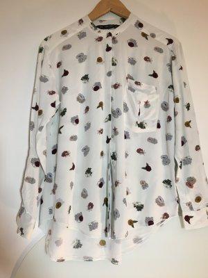 Zara Basic Oversized Blouse multicolored
