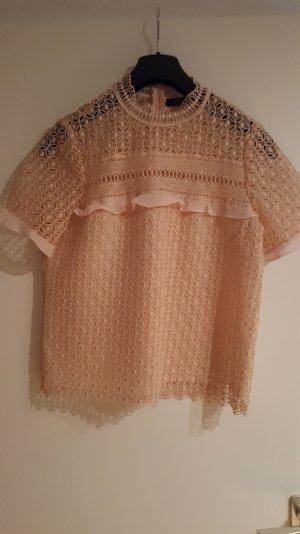 bluse von zara in peach