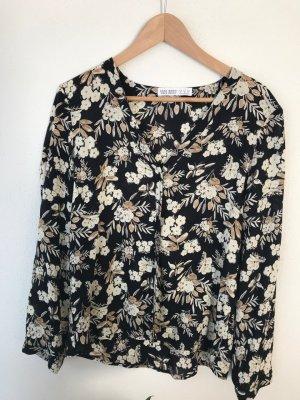 Bluse von Zara mit Blumenmuster; Größe 38