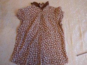 Bluse von Zara mit Bubikragen und tollem Muster, Gr. S