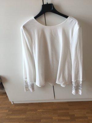 Bluse von Zara mit Spitzendetail