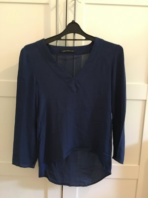 Bluse von Zara mit V-Auschnitt und ¾ Arm
