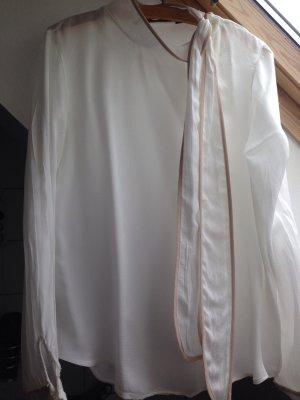 Bluse von Zara mit weißer Knopfleiste